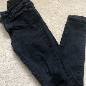 KanCan black faded ripped skinny jeans
